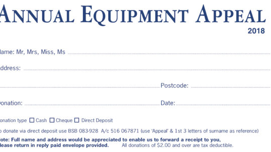 TDHS Annual Equipment Appeal