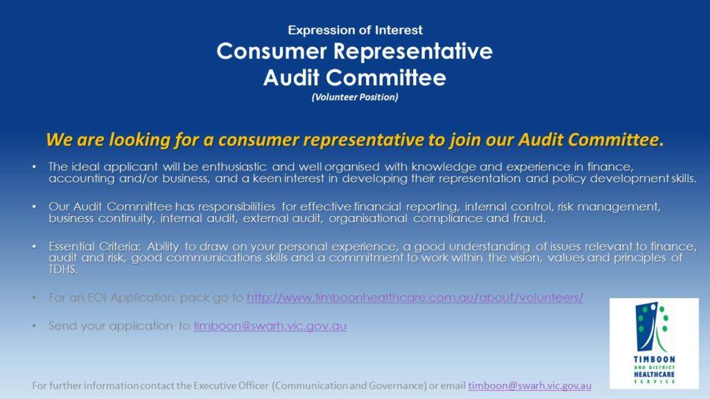 EOI consumer rep for audit
