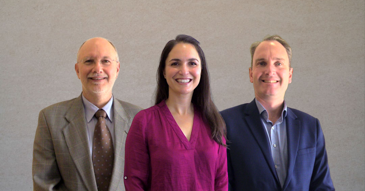 New TDHS Board of Directors Members (l-r) Frank Carlus, Dr Ashley Nesseler and Anthony DeJong.