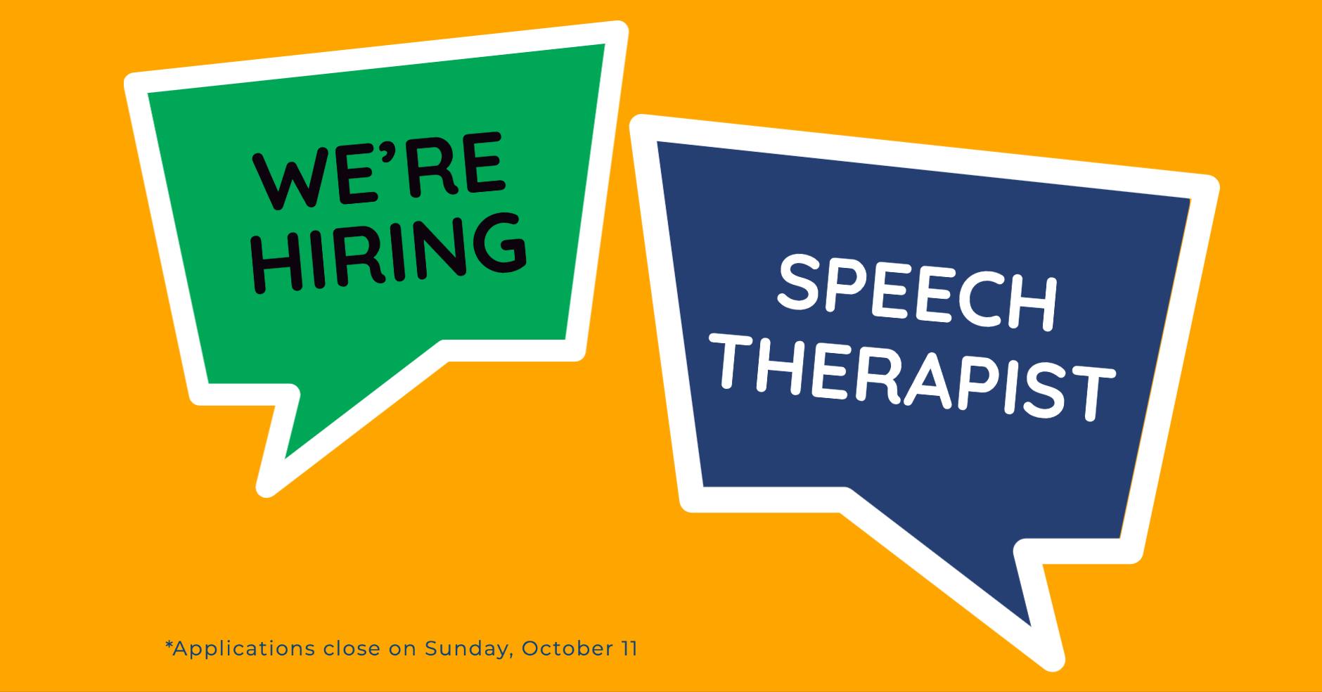 Job Opportunity | Speech Therapist | Grade 2 TDHS