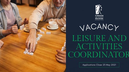 Leisure and Activities Coordinator