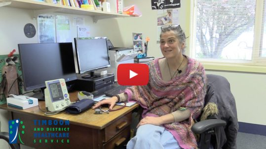 Join the GP team at the Timboon Clinic and TDHS. A video with Dr Andrea Hedgland